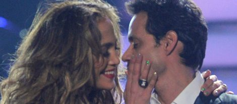 Jennifer Lopez y Marc Anthony, felices sobre el escenario