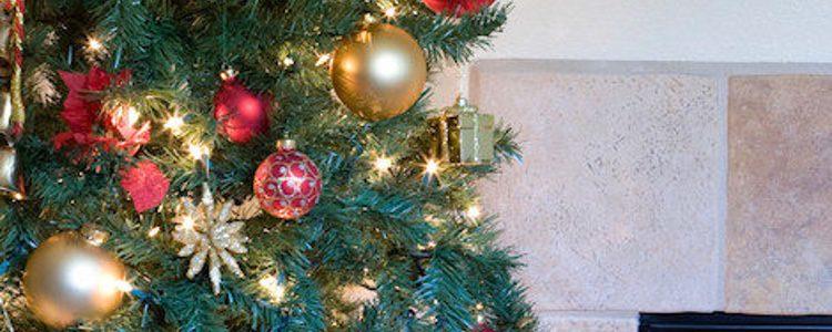 Las luces del árbol de Navidad