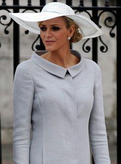 Charlene Wittstock en la boda real inglesa