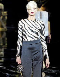 Kristen McMenamy para Louis Vuitton