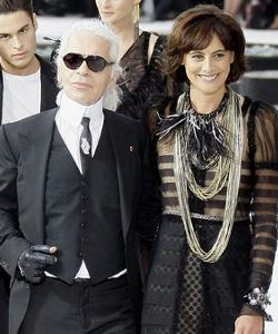 Karl Lagerfeld e Inès de la Fressange