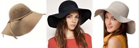 Sombreros de Luxury Divas, Asos y American Apparel