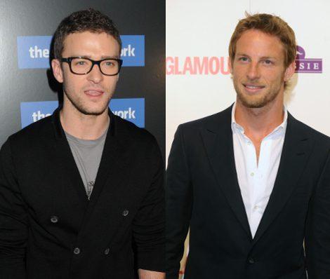 Justin Timberlake y Jenson Button