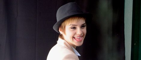 Emma Watson durante la grabación de la campana de Lancôme
