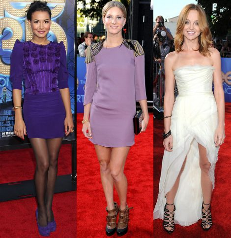 Naya Rivera, Heather Morris y Jayma Mays