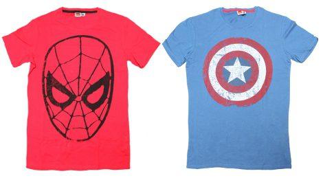 Camisetas de Capitán América y Spider-man