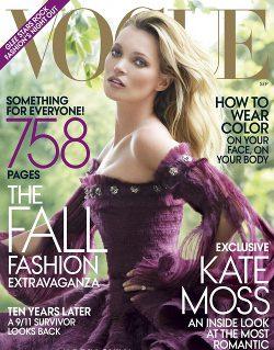 Kate Moss, portada de septiembre de Vogue USA
