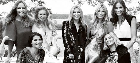 Kate Moss y algunas de las invitadas a su boda, como Stella McCartney o Vivienne Westwood