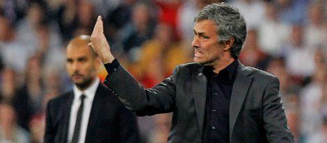 Mourinho y Guardiola en un Madrid-Barça