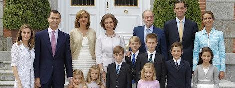 La Familia Real en la Comunión de Miguel Urdangarín