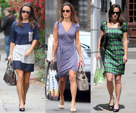 Looks con falda corta de Pippa Middleton