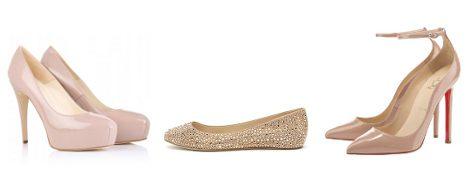 Zapatos en color nude de Brian Atwood, Casadei y Christian Louboutin