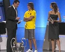 Carles Puyol en la Gala de la UEFA