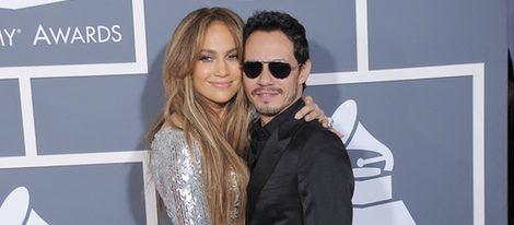 Marc Anthony y Jennifer Lopez en los Grammy antes de su separación