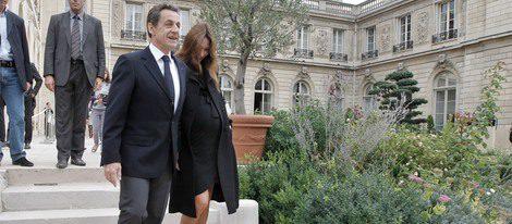 Sarkozy y Bruni embarazada