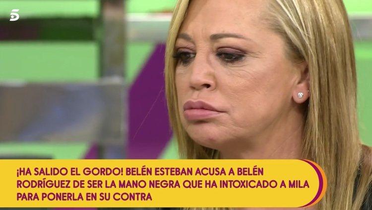 Belén Esteban en 'Sálvame' Foto: telecinco.es