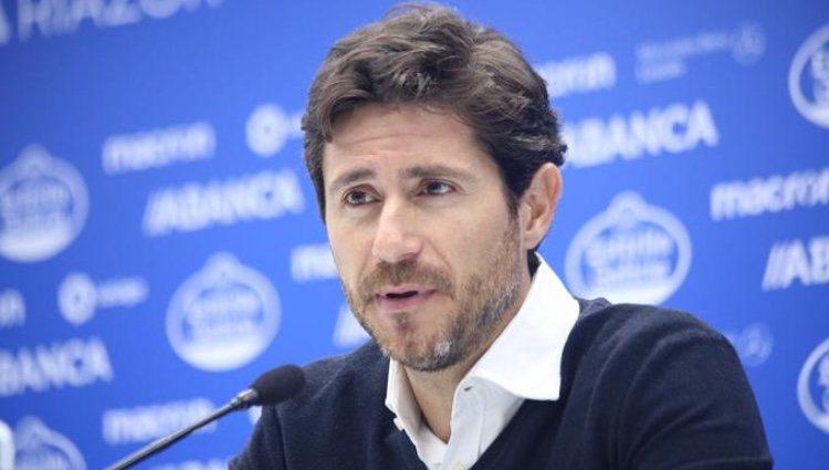 Víctor Sánchez del Amo en rueda de prensa/ Foto Twitter