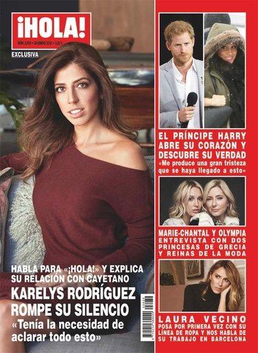 Karelys Rodríguez en la portada de ¡Hola!