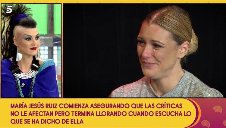 María Jesús Ruíz en su nueva sección de 'Sálvame' Foto: telecinco.es