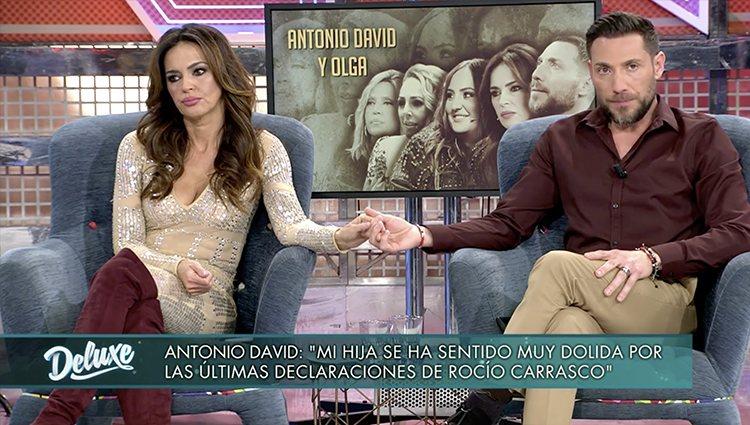 Olga Moreno y Antonio David Flores en 'Sábado Deluxe'  Foto: Telecinco.es