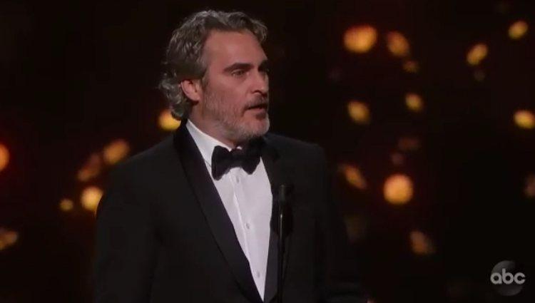 Joaquin Phoenix agradeciendo el premio Oscar | Foto: ABC