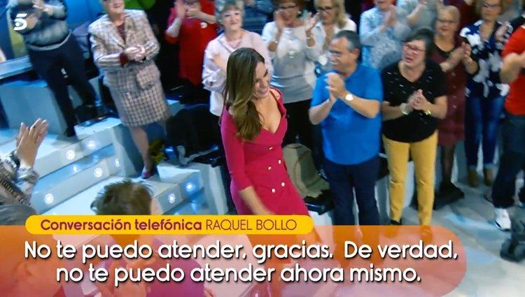 Raquel Bollo dando largas a 'Sálvame' / Telecinco.es