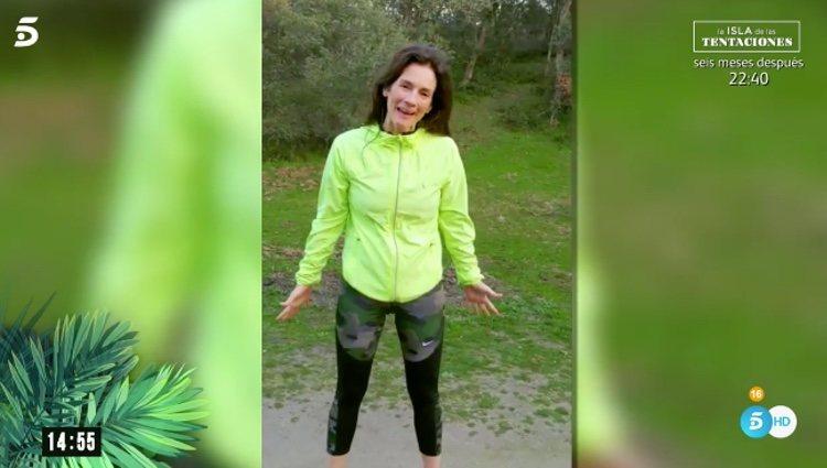 La madre de Adara en su vídeo de presentación |Foto: telecinco.es