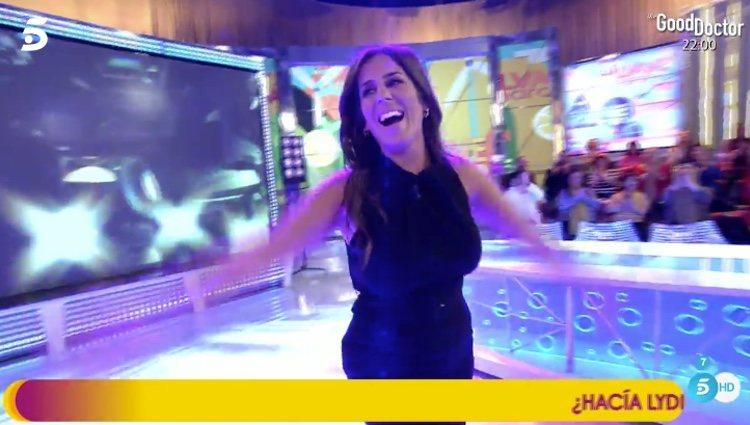 Anabel Pantoja feliz en su vuelta a 'Sálvame' tras 'El tiempo del descuento' / Telecinco.es