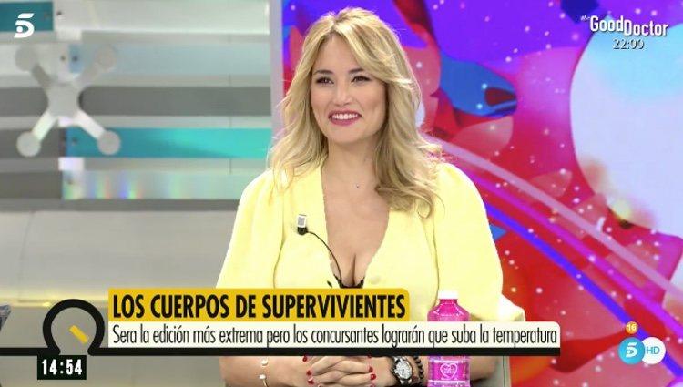 Alba Carrillo feliz por su vuelta a 'Ya es mediodía' / Telecinco.es