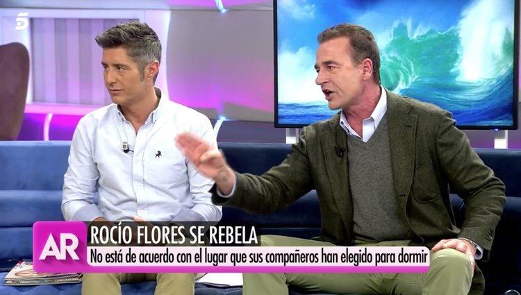 Alessandro Lequio indignado con la actitud de Rocío Flores Foto: telecinco.es