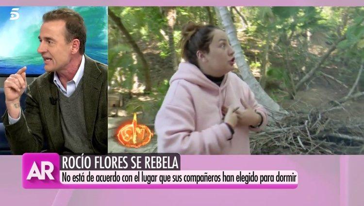 Alessandro Lequio comentando 'Supervivientes' Foto: telecinco.es