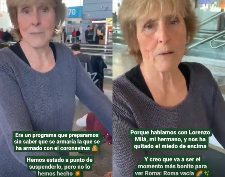 Stories de Mercedes Milá/Fuente: Instagram