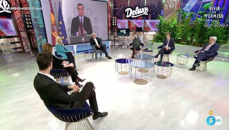 Debate sobre el Coronavirus en 'Sábado Deluxe' Foto: telecinco.es