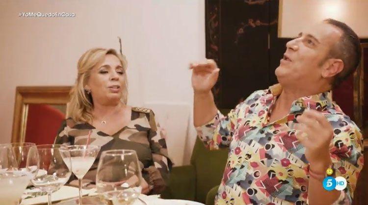 Carmen Borrego y Víctor Sandoval en un momento de tensión en 'Ven a cenar conmigo: Gourmet Edition'