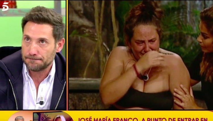 Antonio David agradeciendo a Lara cómo se portó con Rocío / Telecinco.es