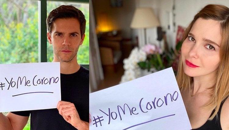 Marc Clotet y Natalia Sánchez con el lema #yomecorono / Instagram