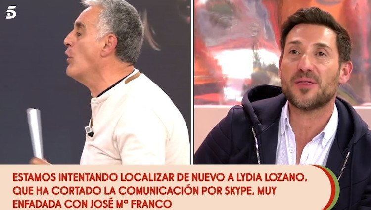 Antonio David y José María Franco discutiendo en 'Sálvame'|Foto: telecinco.es