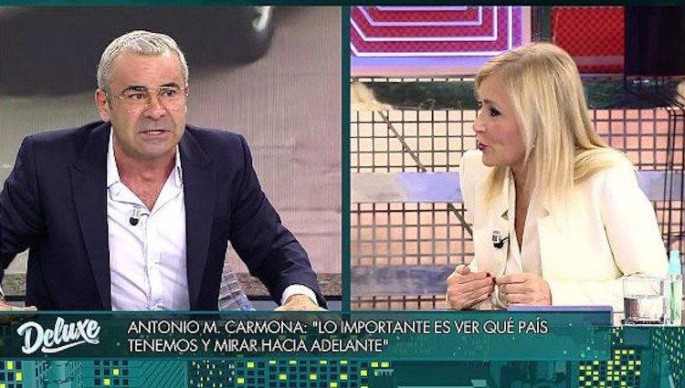 Cristina Cifuentes y Jorge Javier Vázquez en 'Sábado Deluxe'|Foto: telecinco.es