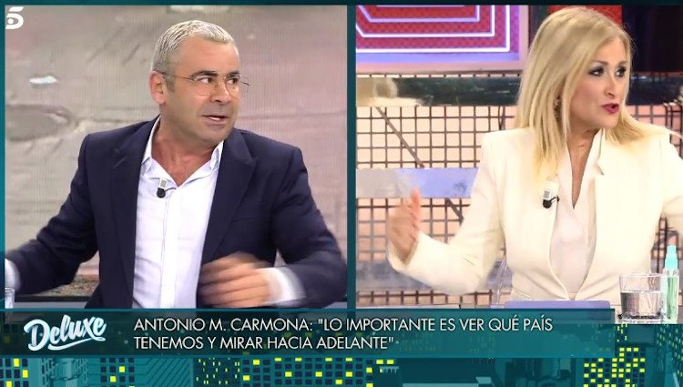 Cristina Cifuentes y Jorge Javier Vázquez se enfrentan|Foto: telecinco.es