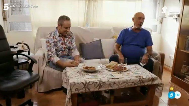 El Dioni en su casa con Víctor Sandoval en 'Ven a cenar conmigo: Gourmet Edition'