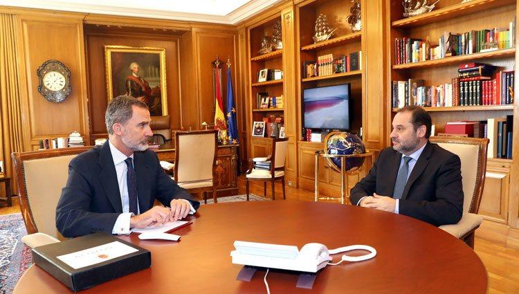 El Rey con el Ministro de Transportes, Movilidad y Agenda Urbana