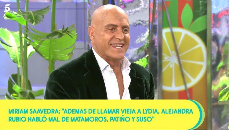 Kiko Matamoros hablando de Alejandra Rubio/ Foto: telecinco.es