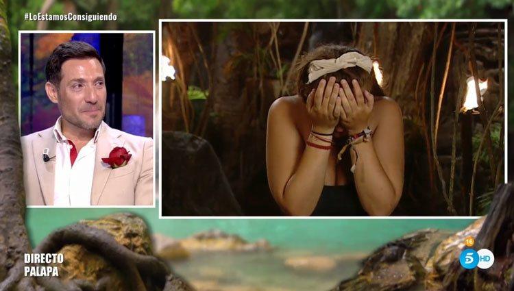 Rocío Flores llorando al hablar de su madre en 'SV 2020' / Telecinco.es