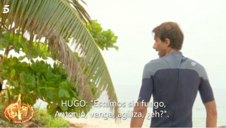 Hugo Sierra, el más en contra de este juego | Foto: Telecinco.es