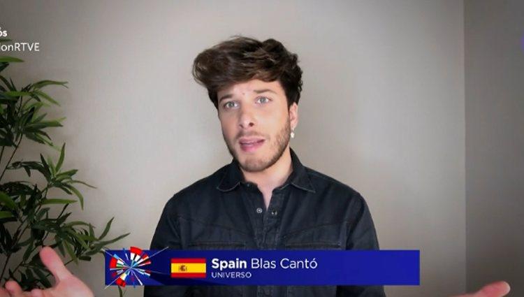 Blas Cantó hablando en 'Europe Shine a Light' | Foto: rtve.es