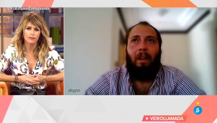 Emma García hablando con Avilés / Telecinco.es