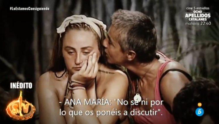 Ana María dando explicaciones a Rocío tras su reproche / Telecinco.es