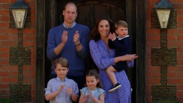 Los Duques de Cambridge con sus hijos en Anmer Hall