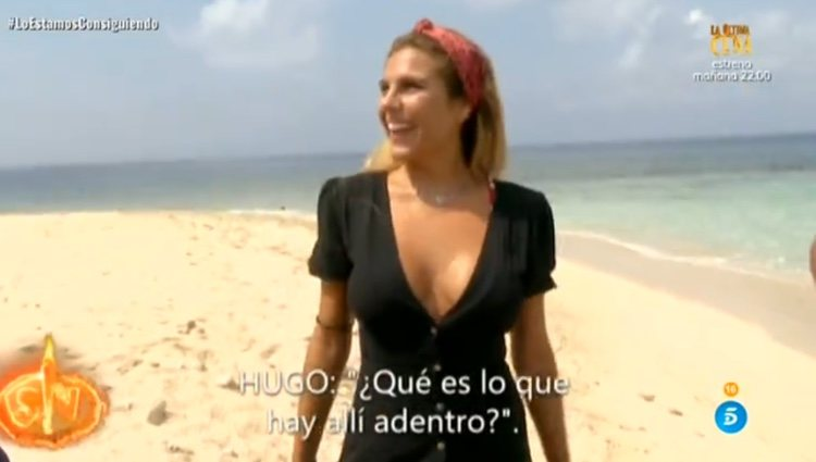Ivana en el momento de su discusión con Hugo / Telecinco.es