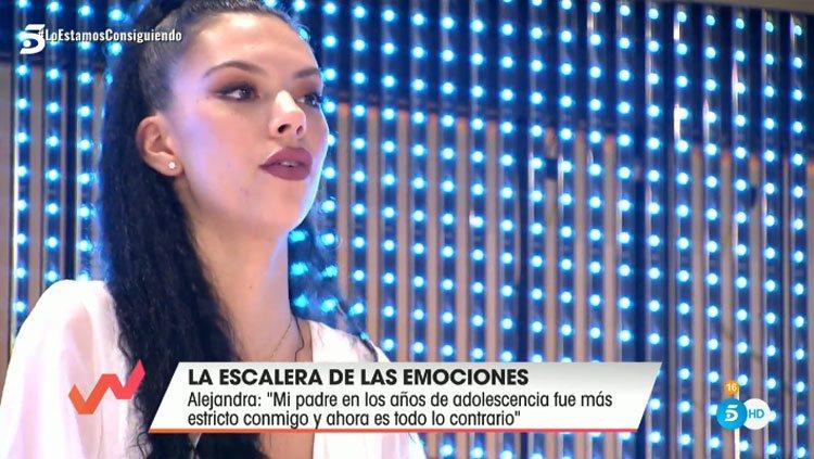 Alejandra Rubio en la Escalera de las emociones de 'Viva la vida'